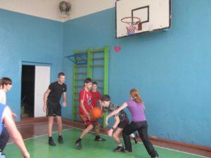 Соревнование по баскетболу среди учащихся 9-11 классов
