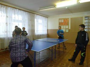 Соревнование по настольному теннису среди учащихся 8-11 классов